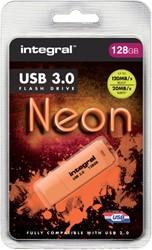 USB-stick 3.0 Integral 128GB neon oranje