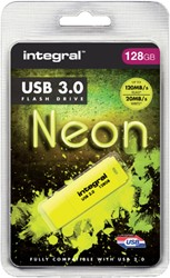 USB-stick 3.0 Integral 128GB neon geel