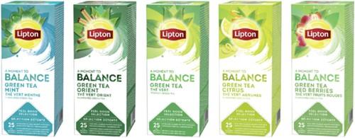 Thee Lipton Balance Groene thee Munt 25stuks-3