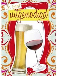 Uitnodiging bier en wijn