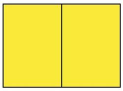 Correspondentiekaart dubbel A6 fel geel