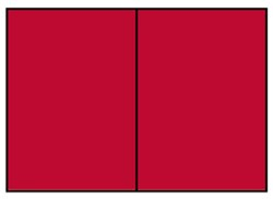 Correspondentiekaart dubbel A6 rood
