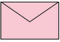 Envelop 90x140mm baby roze