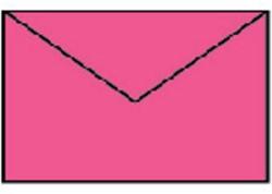 Envelop 90x140mm fuchsia roze