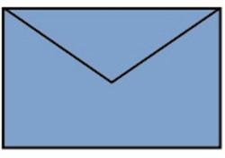 Envelop 90x140mm midden blauw