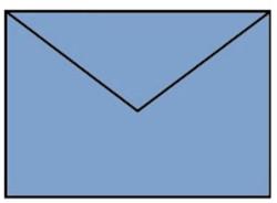 Envelop C6 midden blauw