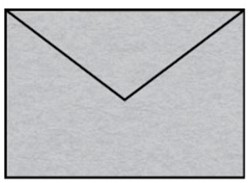 Envelop C6 zilver