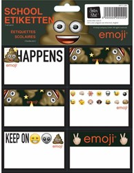 Schooletiketten Emoji boys