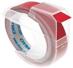 Labeltape Dymo rol 9mmx3M glossy vinyl prof rood