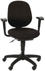 Bureaustoel Euroseats Brussel middel hoge rug zwart