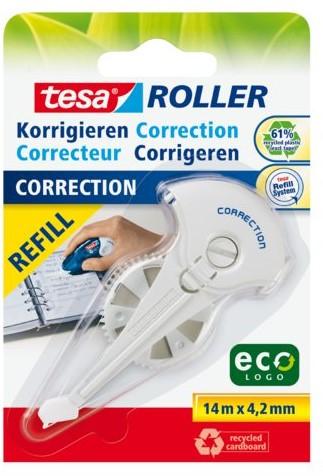 Correctierollervulling Tesa ecoLogo 4.2mmx14m eco op blister