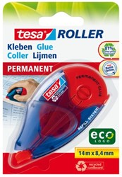 Lijmroller Tesa ecoLogo navulbaar permanent op blister