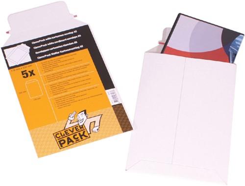 Envelop CleverPack A5 176x250mm karton wit 5stuks-1