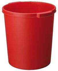 Papierbak Jalema 15liter met griprand rood