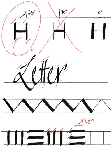Kalligrafiepen edding 1255 zwart 5.0mm-2