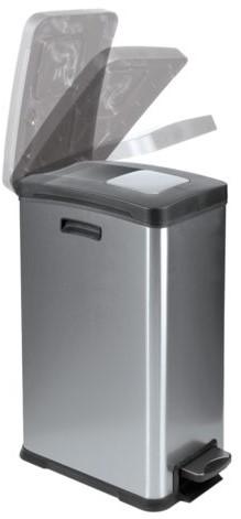 Afvalbak Rejoice RVS met kunststof binnenbak 30liter-2