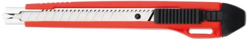 Snijmes Westcott Premium 9mm met metalen geleiding rood