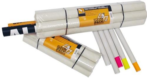 Verzendkoker CleverPack A2 +doppen 450x50x1.5 wit 5stuks-3