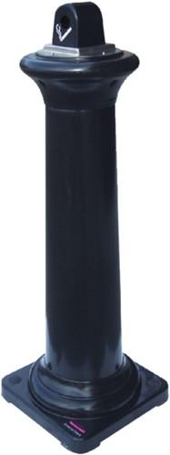 Asbak staand Rubbermaid peukenzuil tuscan zwart-1