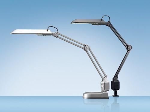 Bureaulamp Hansa met spaarlamp Ecostar zilver-3