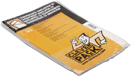 Envelop CleverPack akte C5 165x220mm zelfkl. transp. 50stuks-1
