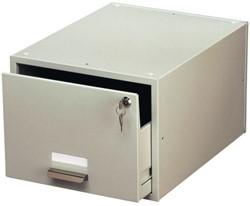 Kaartenbak Durable metaal A5 150x200mm lichtgrijs 3353-10