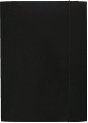 Elastomap folio 3 kleppen zwart
