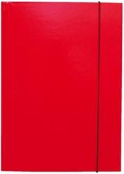Elastomap folio 3 kleppen rood
