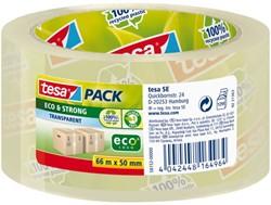 Verpakkingstape Tesa 50mmx66m Eco transparant
