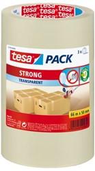 Verpakkingstape Tesa 50mmx66m transparant PP 3rol