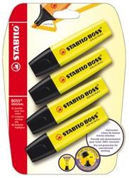 Markeerstift STABILO Boss 70/24 geel blister à 4 stuks