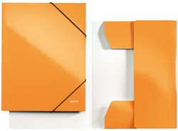 3-klepsmap Leitz WOW A4 karton oranje