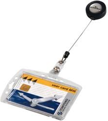 Afrolmechanisme Durable 8012 54x85mm met gesloten pashouder