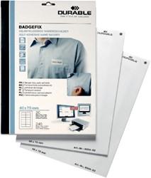 Naambadge etiket Durable 8334 40x75mm zelfklevend wit