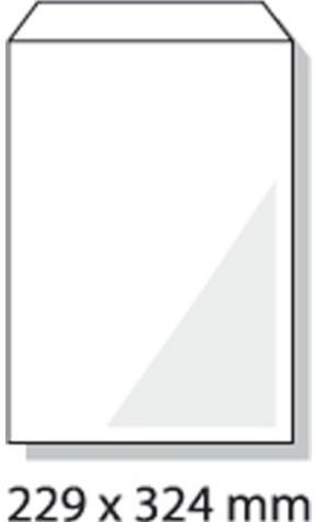 Envelop Hermes akte C4 229x324mm wit 25stuks-2