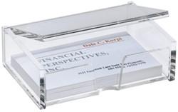 Visitekaartenbak Sigel VA112 90x55mm glashelder