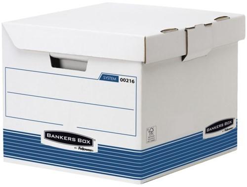 Archiefdoos Bankers Box System flip top kubus wit blauw-2
