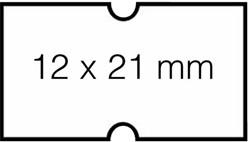 Prijsetiket 12x21mm Hallo 1Y afneembaar wit