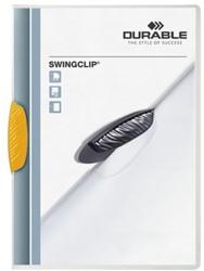 Klemmap Durable Swingclip 30 vellen geel