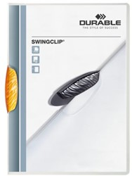 Klemmap Durable Swingclip 30 vellen oranje