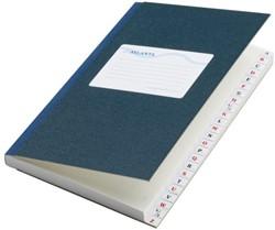 Notitieboek Atlanta met alfabet gelineerd blauw