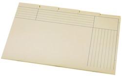 Sorteermap Atlanta folio 5 vakken 180gr geel