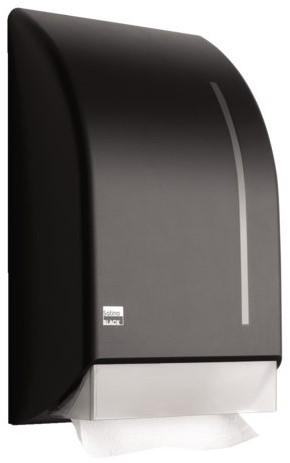 Handdoek Satino Black 25x23cm 2-laags zigzag 3200st.-2