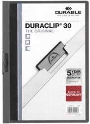 Klemmap Durable Duraclip A4 3mm 30 vellen antraciet/grijs