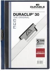 Klemmap Durable Duraclip A4 3mm 30 vellen nachtblauw
