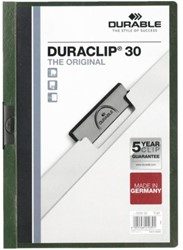 Klemmap Durable Duraclip A4 3mm 30 vellen donkergroen