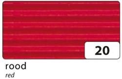 Golfkarton Folia E-golf 50x70cm 250gr nr20 rood