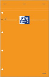 Schrijfblok Oxford Everyday A4+ lijn 80vel geel