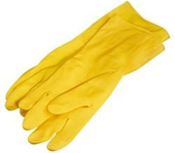 Huishouidhandschoen Felicia geel medium