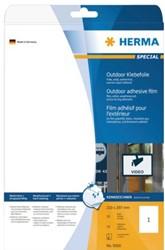 Etiket Herma 9500 210x297mm A4 polyester wit 10stuks